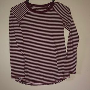 Justice Striped Long Sleeve Shirt
